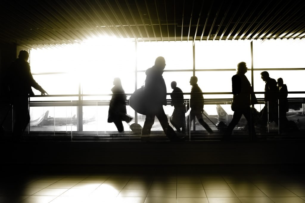 funny airport security stories while traveling the US and the world with my hubby- the bustling airport