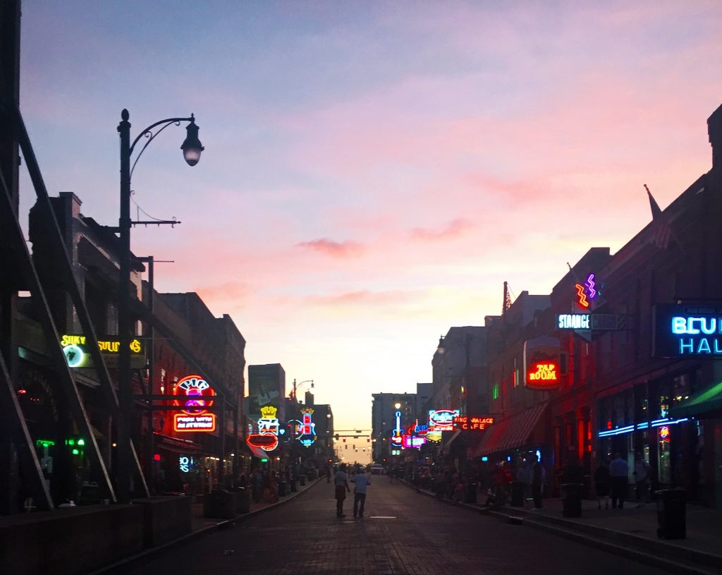 Beale at sunset with the neon lights glowing was a warm welcome to this iconic place as we were traveling around beauitful America
