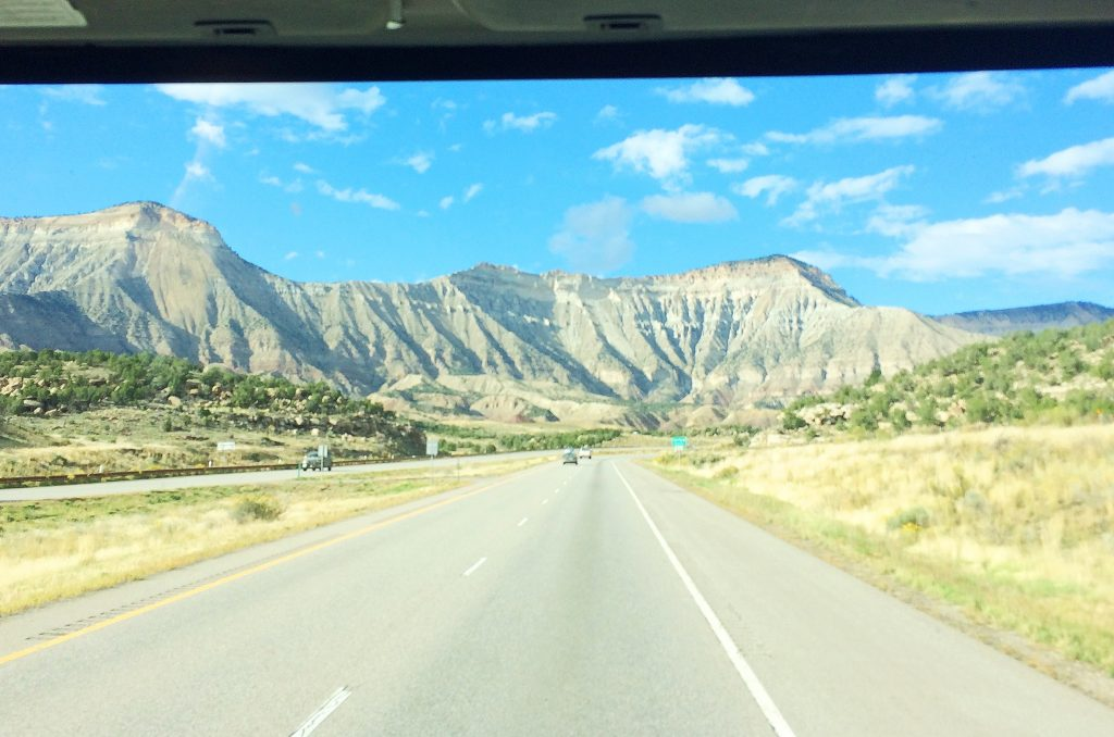 Our view from this US Road Trip Adventure