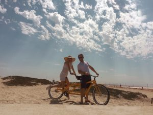 Riding our Tandem bike for our 13 year Anniversary along the coast