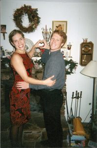 a happy valentines day in 2001, our first!