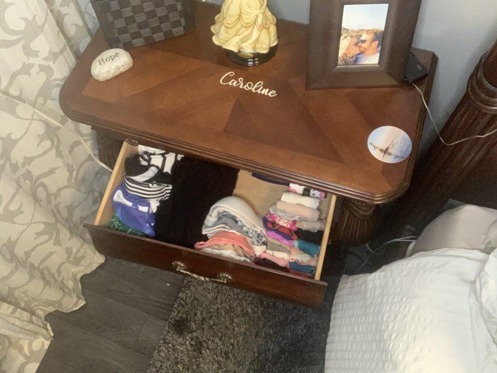 organized socks and  underwear