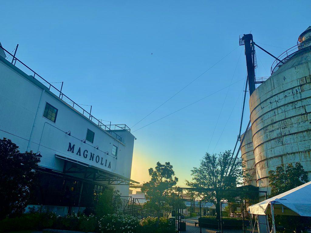 Waco Texas, Magnolia Silos at Sunset