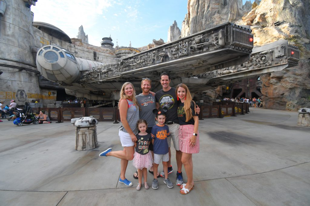 Our families at Disneyland where it all started with our husband's friendship
