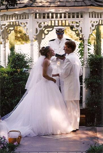 Saying our vows at our wedding, more than just words but a covenant with God and each other.